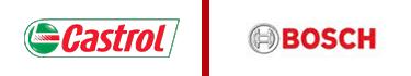 Castrol and Bosh logos